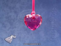 Fuchsia Heart Ornament