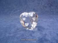 Love Heart Crystal Silver Shade