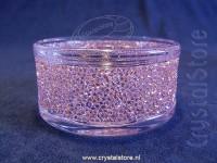 Shimmer Tea Light Holder Pink