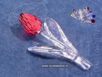 Tulp rood met 9 kleine tulpjes