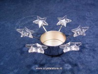 Tea light Stars – Rhodium