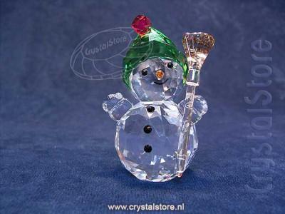 Swarovski Kristal 2018 5393460 Snowman with Broomstick