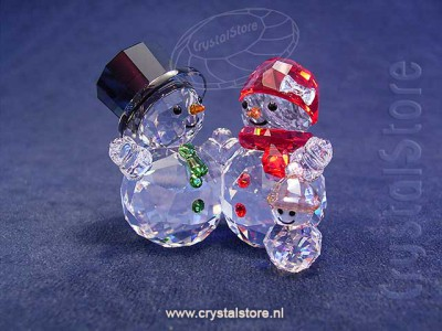 Swarovski Crystal - Snowman Family