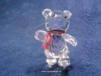 Kris bear schaatsend