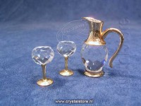Wine Set 3 Pieces Gold