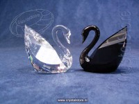Swan Crystal and Jet