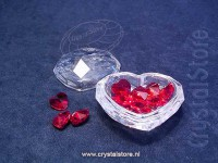 Heart Jewel Box with Red Hearts