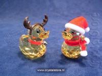 Happy Duck - Santa & Reindeer